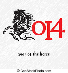Horse 2014 year chinese symbol vect
