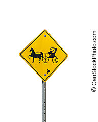 Horse and Buggy parking sign