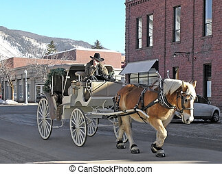 horse and cart aspen