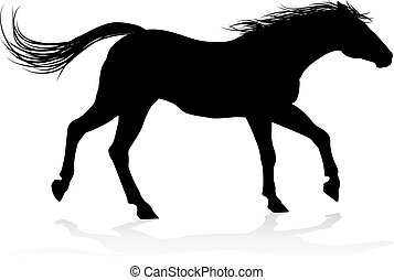 Horse Animal Silhouette - A high quality very detailed horse...