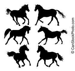 Horse Art Silhouettes