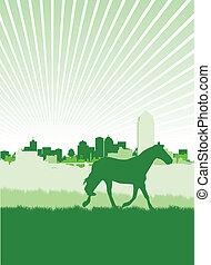horse background - horse cityscape background