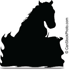 horse black illustration