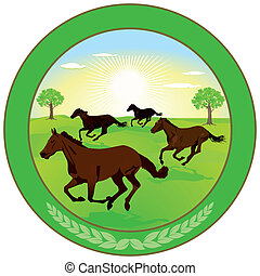 Horse breeding Label