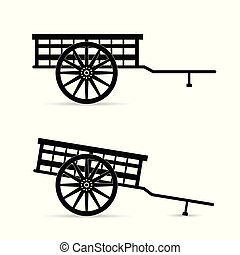 horse carriage vector illustration
