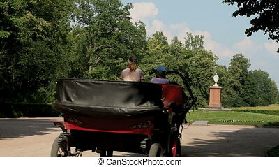 horse carriage - driving off horse carriage