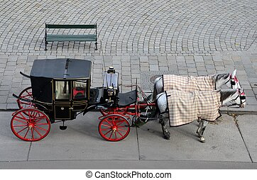 Horse & carriage with bench: Vienna