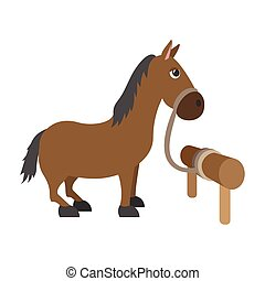 Horse cartoon character