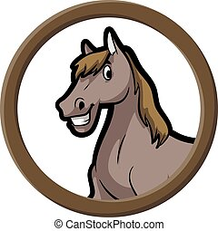 Horse circle banner