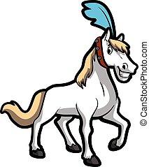 horse circus illustration