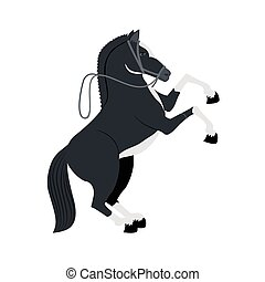 Horse concept. Farm Animal icon. vector graphic
