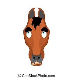 Horse confused oops. Steed perplexed emotions. hoss surprise...