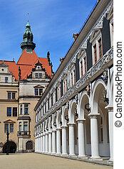 Horse court yard in Dresden