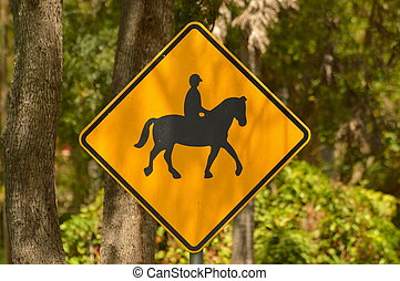 Horse Crossing Street Sign