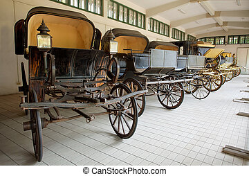 horse-drawn carriage - old horse-drawn carriage