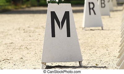 Horse Dressage Rings letter post and field fence