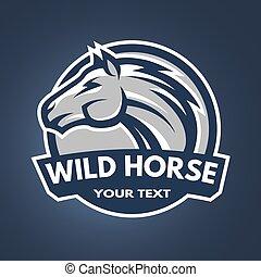 Horse emblem, logo.