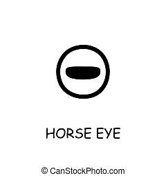 Horse Eye flat vector icon