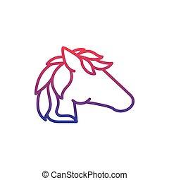 horse fantasy line gradient icon