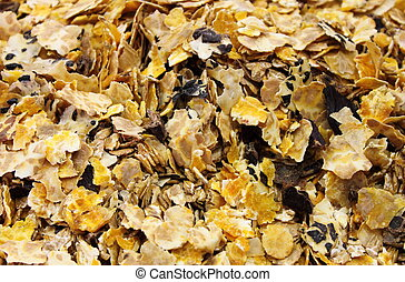 Horse feed mix - Detailed view of horse feed mix