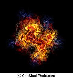 horse., fiery