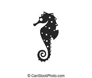 Horse fish logo design vector illustration