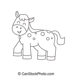 Horse for coloring book.