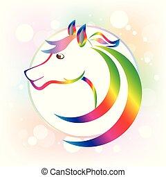 Horse frame icon logo