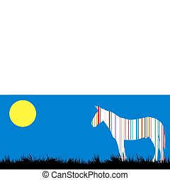 Horse from bar code