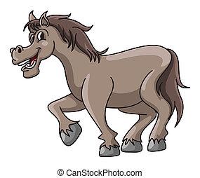 Horse Funny Cartoon