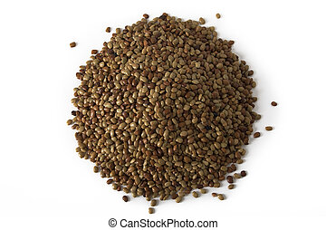 Horse Gram Lentils - Pile - A pile of horse gram lentils on...