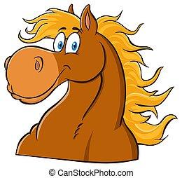 Horse Head Cartoon Mascot Character