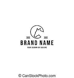 horse head design logo vector