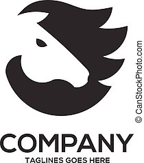 Horse head graphic logo template