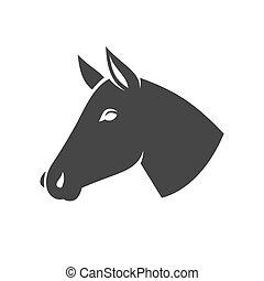 Horse Head Icon Logo. Vector