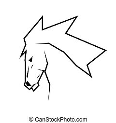 Horse head illustration