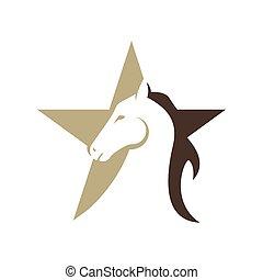 horse head Logo Template Vector illustration design