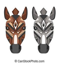 Horse Head Logo. Vector decorative Emblem.