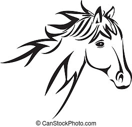 Horse head logo vector