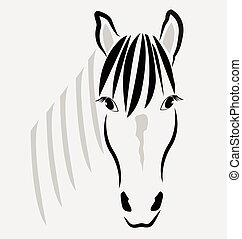 Horse head portrait logo vector