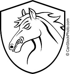 Horse Head Tattoo Mascot