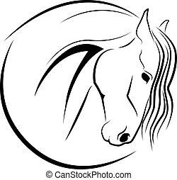 Horse head - vector