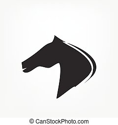 Horse head - vector illustration isoleted on white...