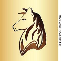 Horse head vintage logo