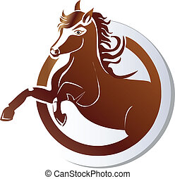 Horse icon logo vector