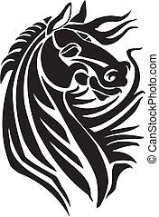 Horse in tribal style - vector illustration. - Vector image...