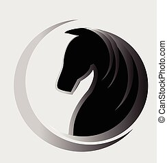 Horse logo  - Beautiful horse logo vector identity card