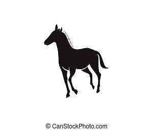Horse Logo Template Vector black