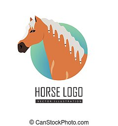Horse Logo Vector Illustration in Flat Design