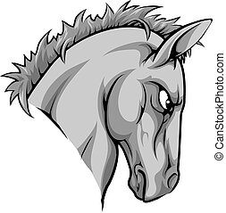 Horse mascot character - An illustration of a fierce horse...